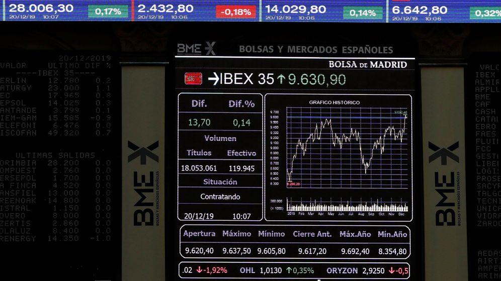 Foto: Vista del principal indicador de la bolsa, el Ibex 35.