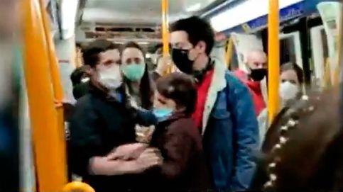 Bronca en el metro de Madrid: Se ha muerto un tío mío, ponte la mascarilla