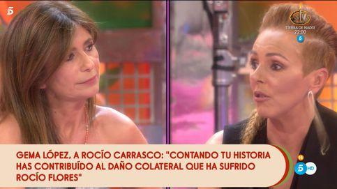 Gema López, en el ojo del huracán tras su tenso cara a cara con Rocío Carrasco