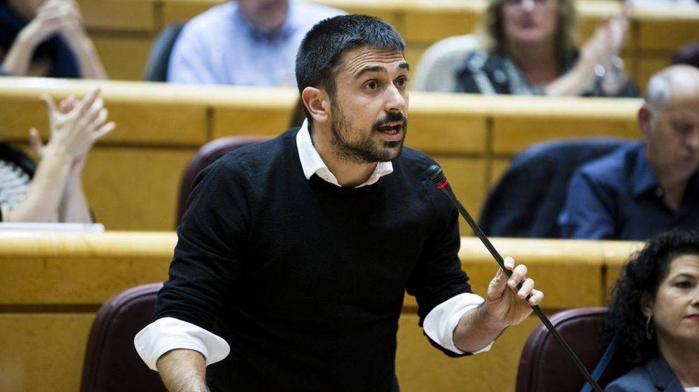 Foto: El diputado regional y portavoz de Unidos Podemos en el Senado, Ramón Espinar. (Irene Lingua)
