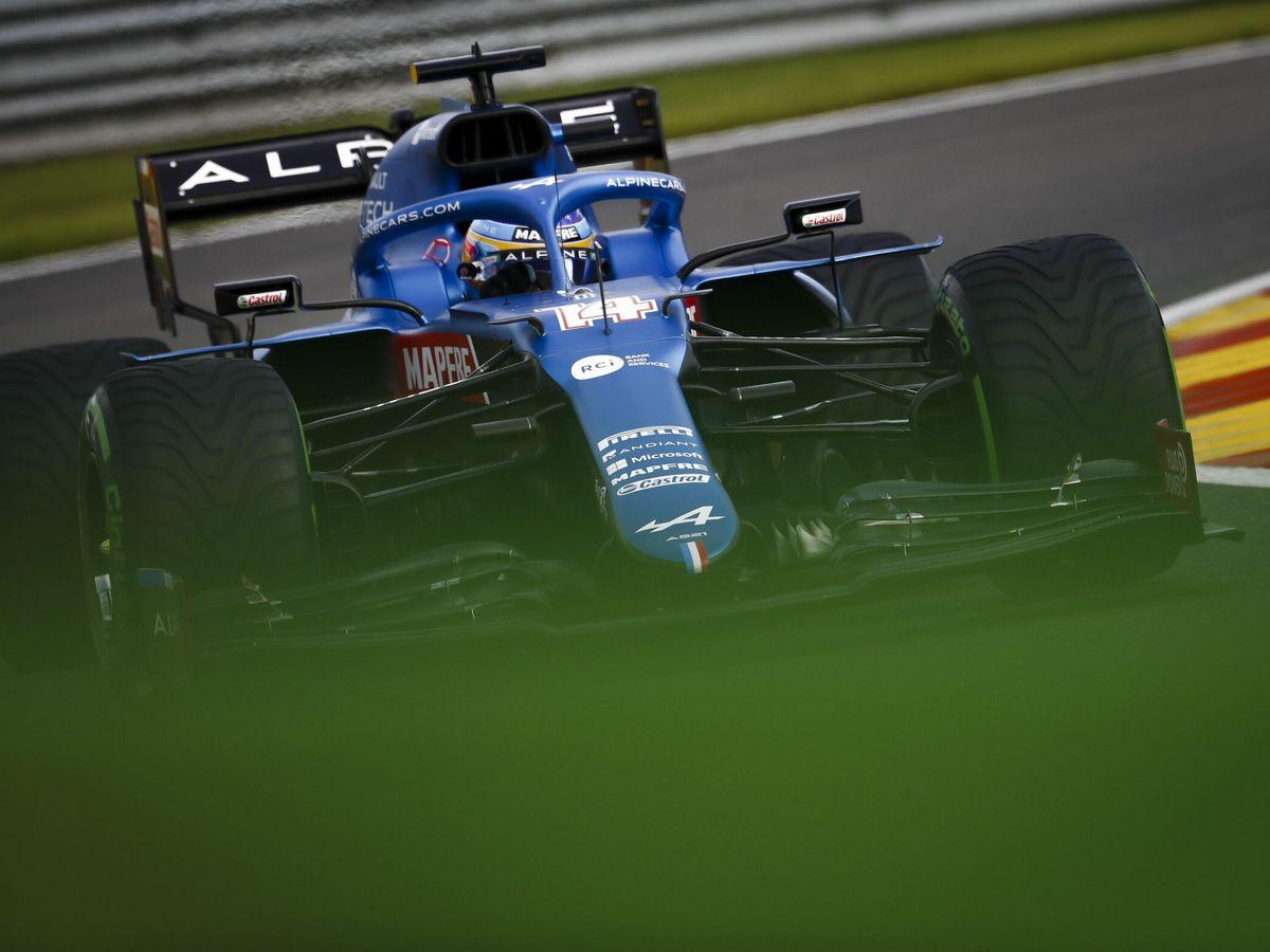 Foto: Fernando Alonso en los libres del G.P. de Bélgica