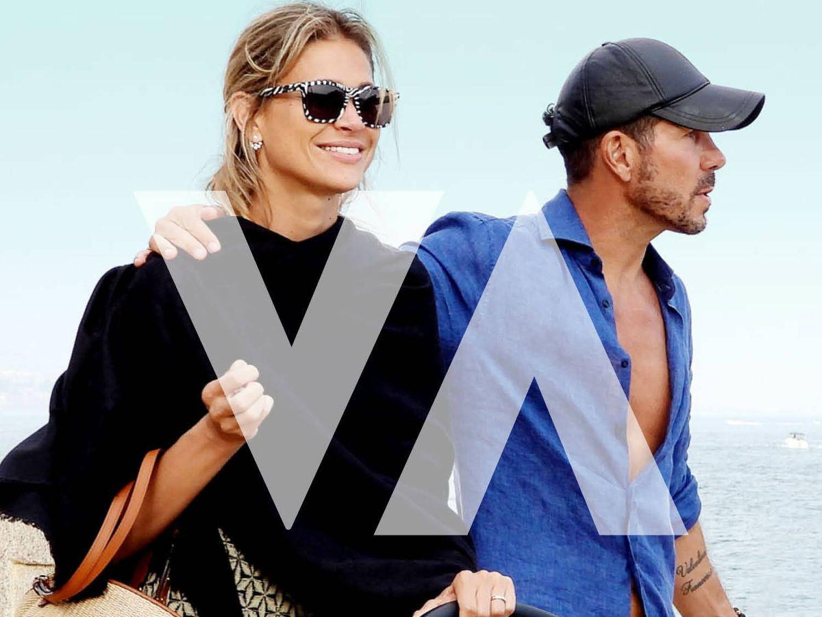 Foto: Carla Pereyra y Simeone, en Marbella. (Gloss Press)