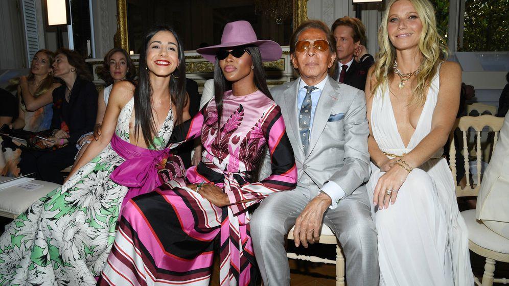 Foto: Naomi Campbell, Valentino Garavani y Gwyneth Paltrow. (Getty)