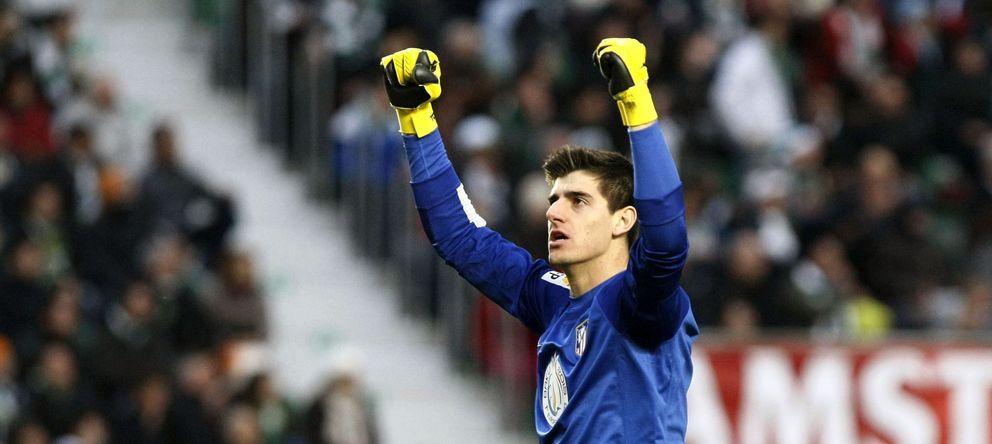 Foto: Courtois, durante un partido del Atlético de Madrid (EFE)