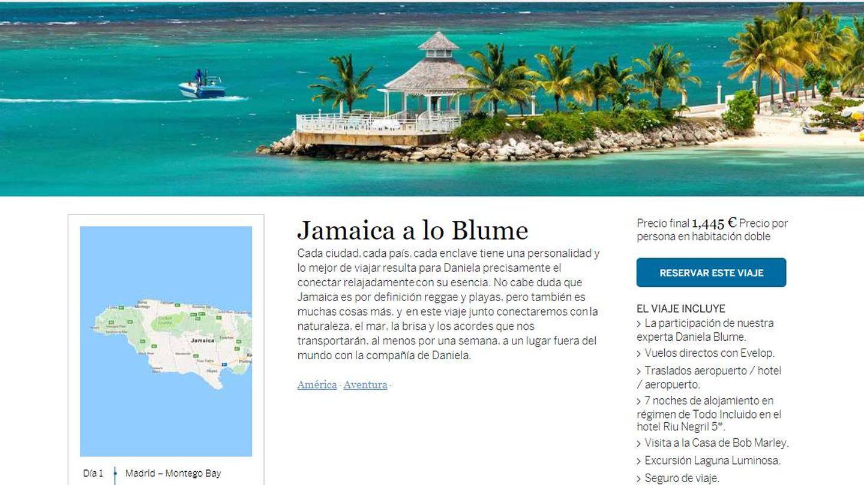 Anuncio del viaje a Jamaica con Daniel Blume de guía turística