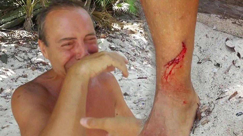 El Maestro Joao llora tras cortarse la pierna
