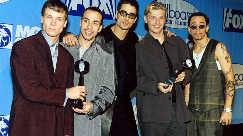 Foto: Los BSB, recibiendo el premio a Grupo del Año en 1998. (CP)