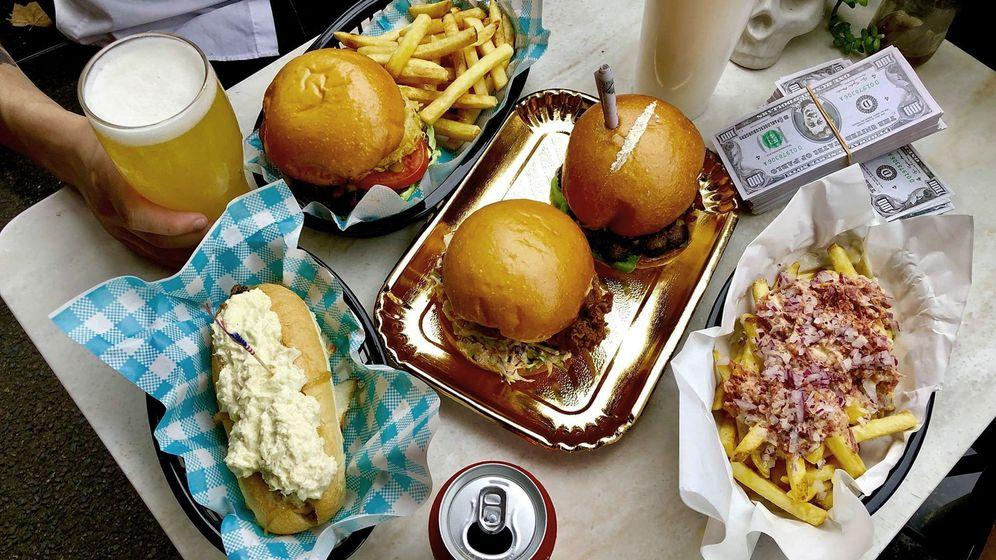 Foto: Detalle de una hamburguesería
