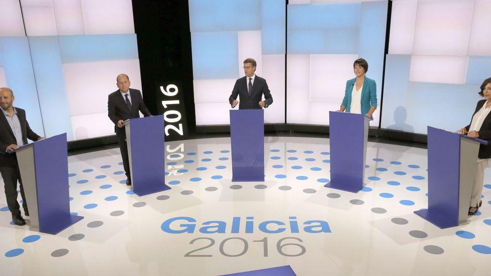 Foto: Debate a cinco en TVG de los candidatos a la presidencia de la Xunta. (EFE)