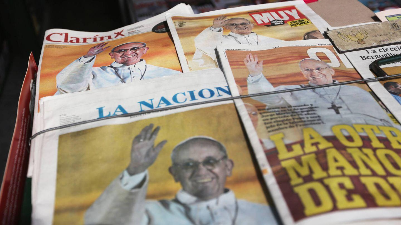 La prensa celebra la elección del Papa en 2013. (Getty)