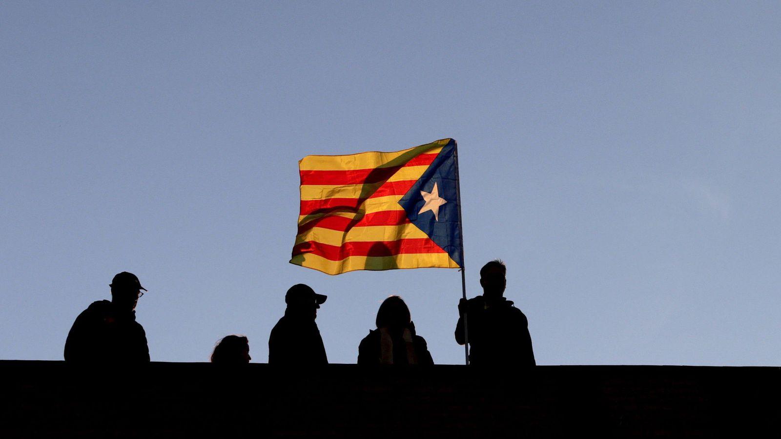 Foto: Manifestación para pedir la libertad de presos soberanistas. (EFE)