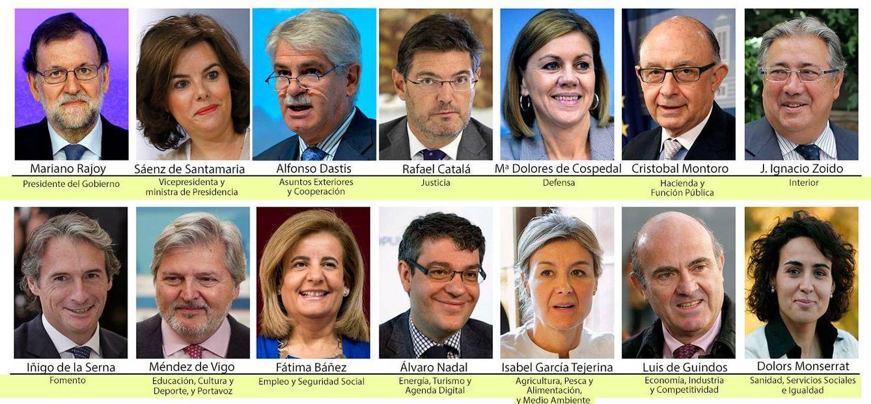 Nuevos ministros gobierno rajoy rajoy nombra un gobierno for Ministros del gobierno