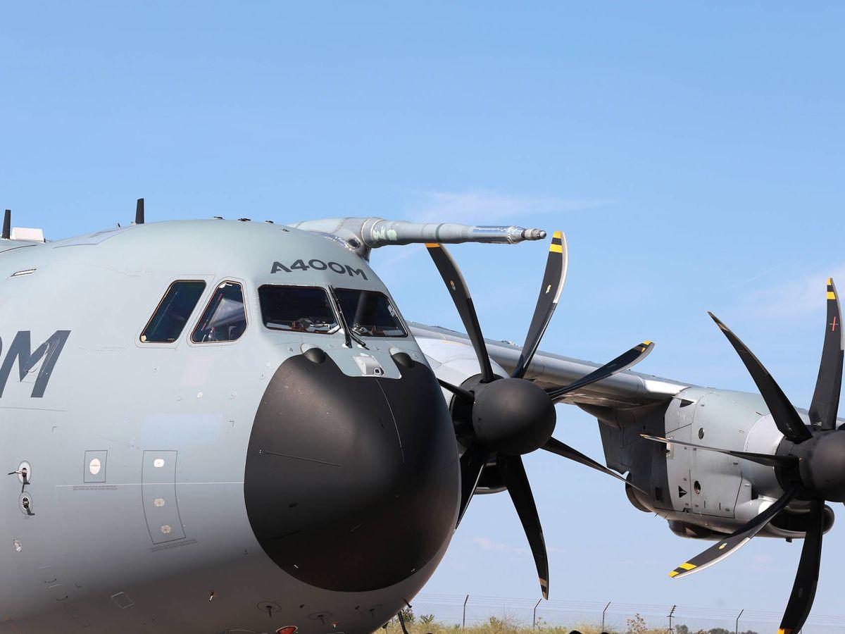 Foto: Un avión A400M en Sevilla. (Airbus)
