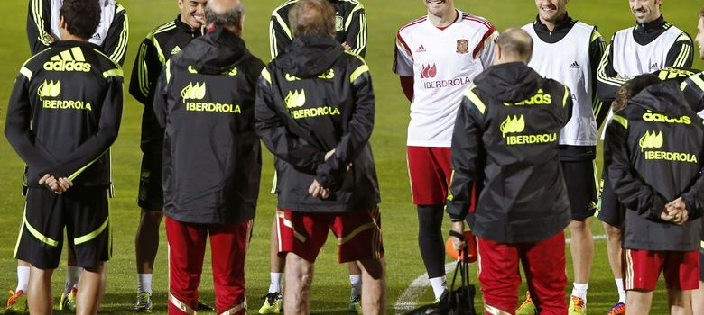 Foto: Entrenamiento de la Selección en Las Rozas (Efe).