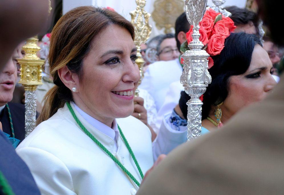 Foto: Susana Díaz, durante la romería de El Rocío, hace unas semanas. (EFE)