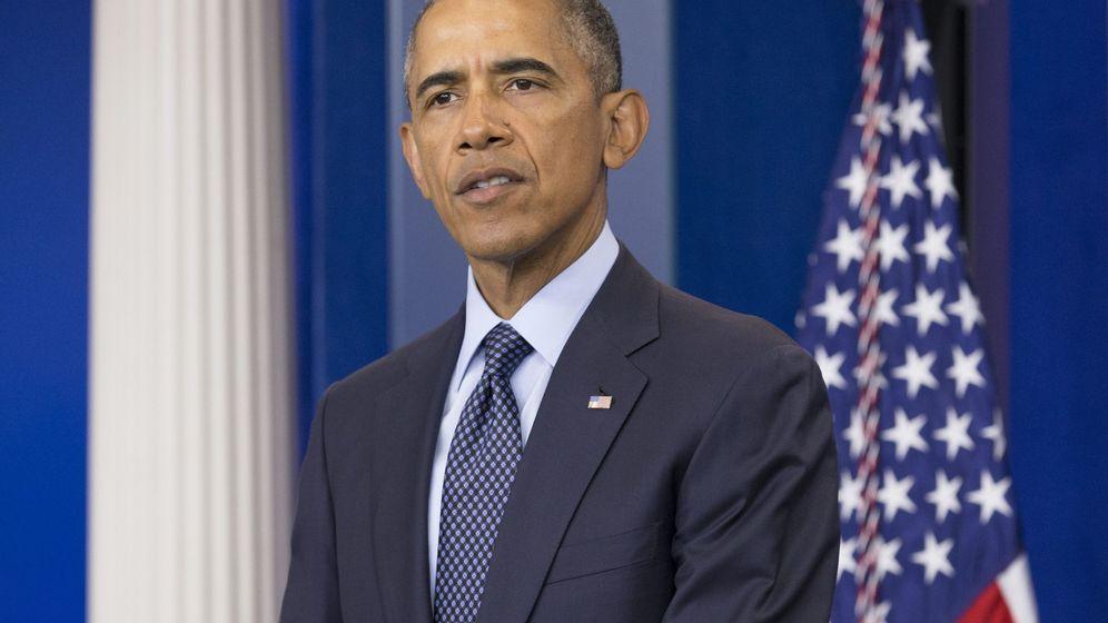 Foto: El presidente de Estados Unidos, Barack Obama, durante su comparecencia. (EFE)