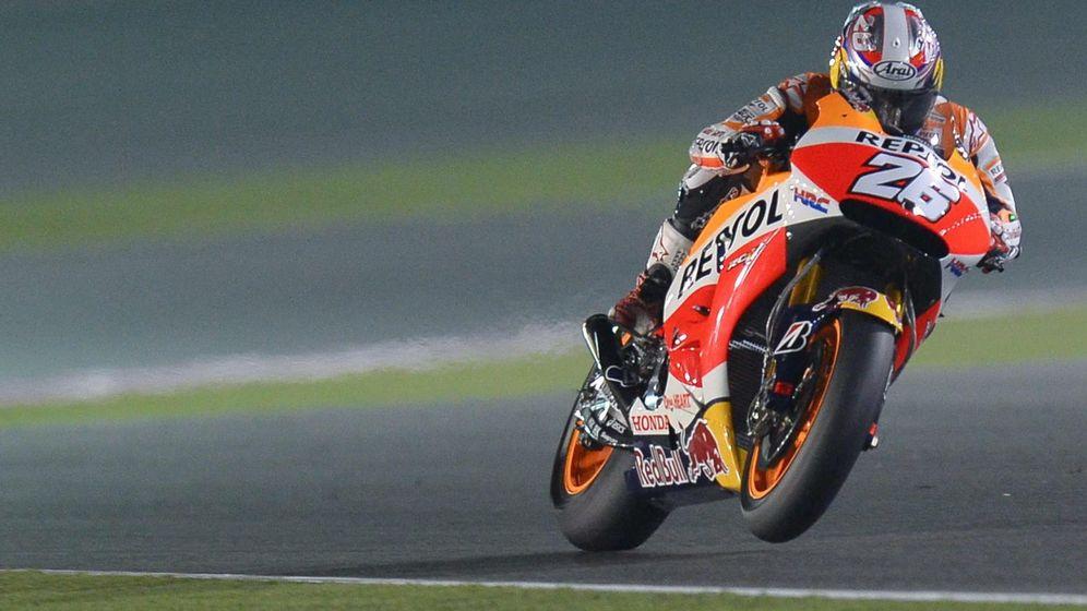 Foto: Dani Pedrosa, durante el Gran Premio de Qatar.