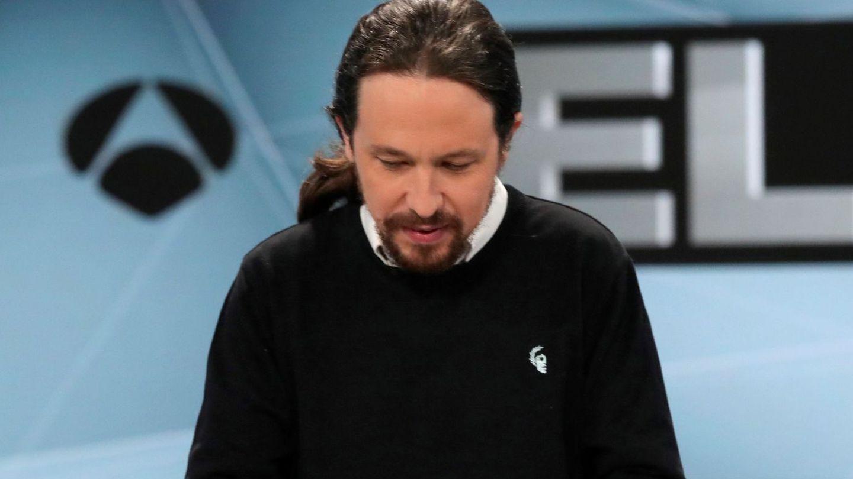 Pablo Iglesias, antes del inicio del segundo debate electoral. (Reuters)