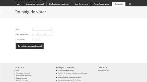 Puigdemont publica la web en la que consultar dónde votará cada catalán el 1-O
