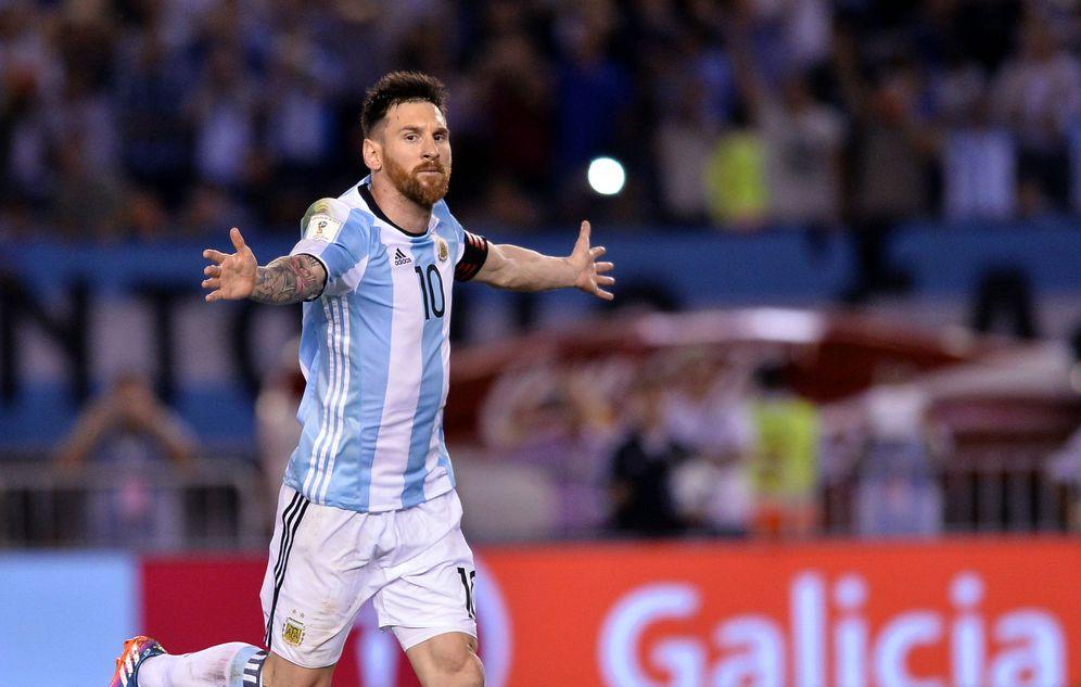 Foto: Messi dio el triunfo a Argentina en su partido ante Chile disputado en Buenos Aires. (EFE)