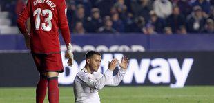 Post de El 'cantadón' de Courtois ante el Levante con un Real Madrid que pierde a Hazard
