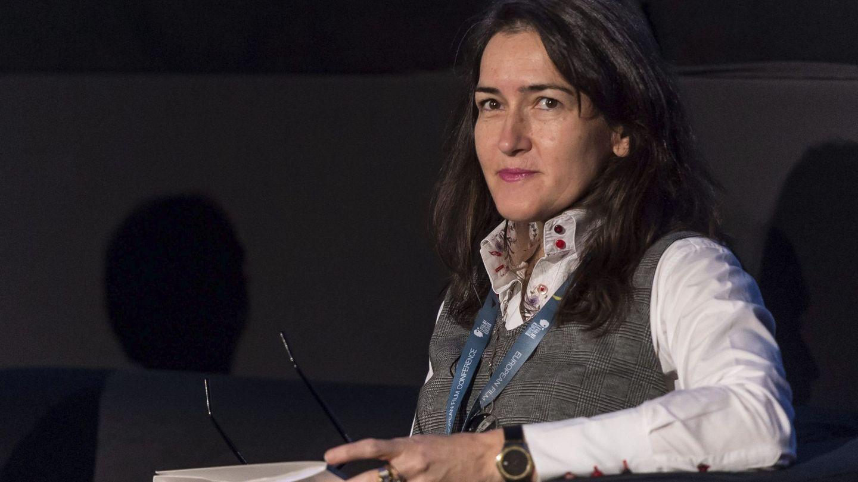 La exministra, durante la conferencia 'Cinematografía europea contra la piratería y los retos del mundo digital', en Breslavia en 2016. (EFE)