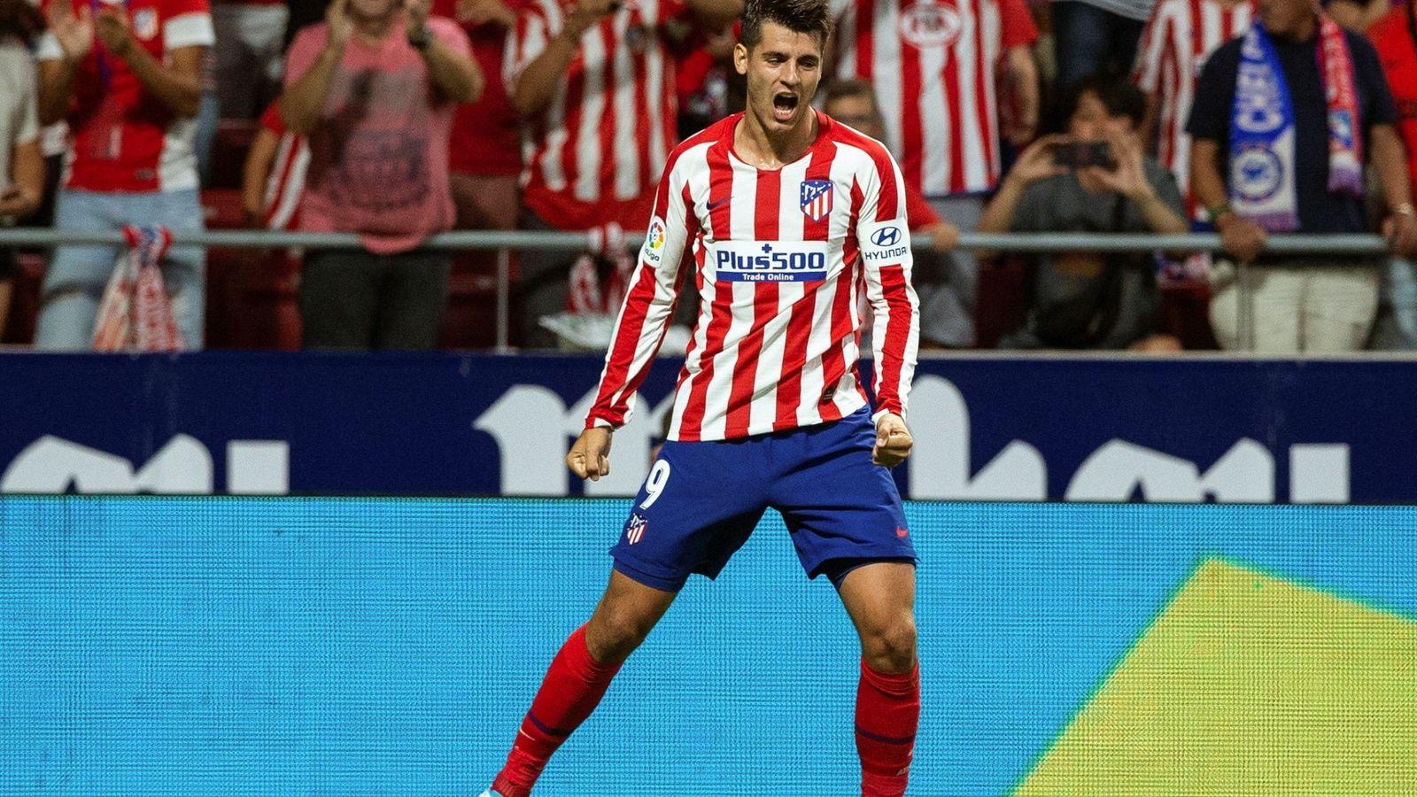 Foto: Morata celebrando el gol ante el Getafe (EFE)