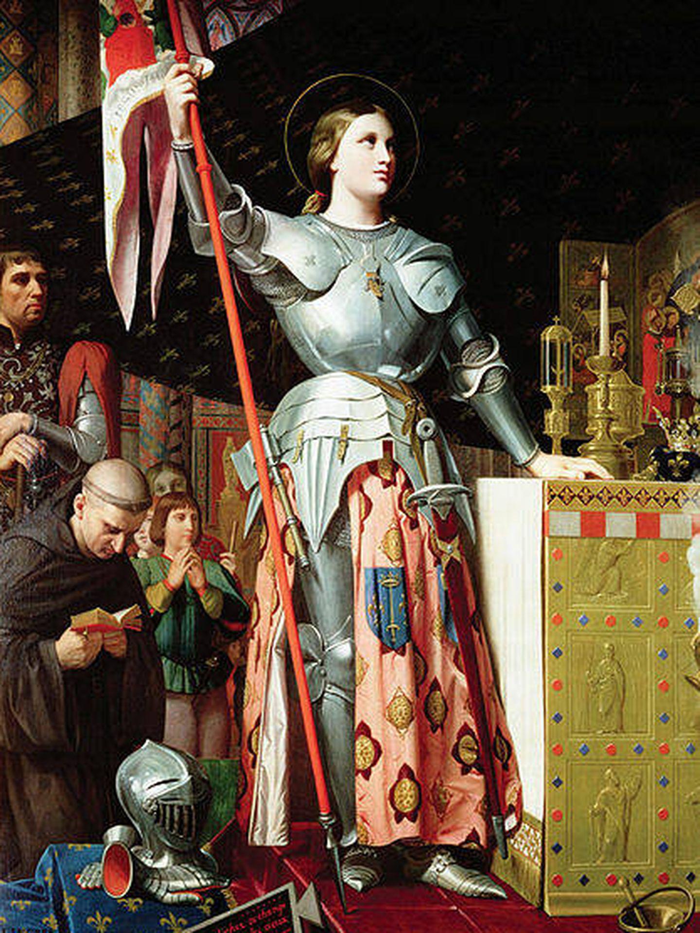 'Juana de Arco en la coronación de Carlos VII', por Ingres (1854).
