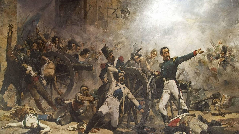 'Defensa del Parque de Artilleria de Monteleón' de Joaquín Sorolla (1884).