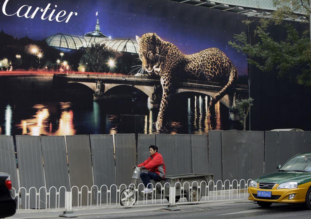 Foto: Anuncio de Cartier en Pekín (Reuters)