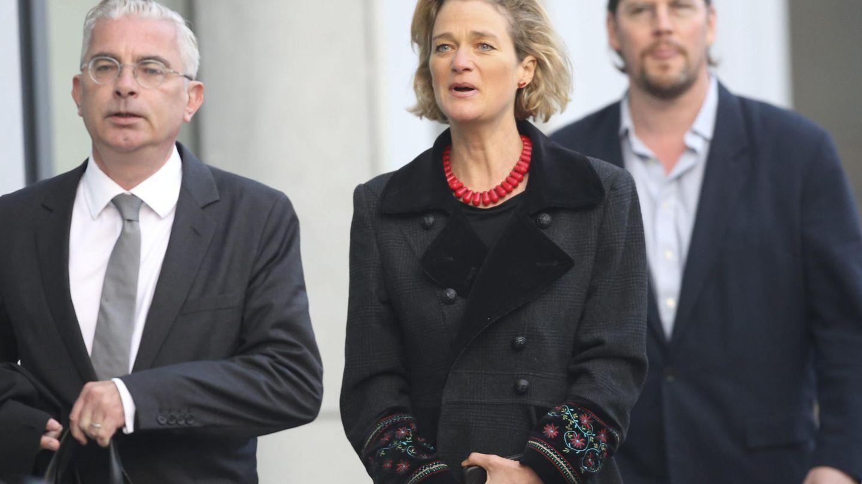 Delphine Boël, en otro de los juicios por la demanda de filiación que interpuso al rey Alberto de Bélgica. (EFE)