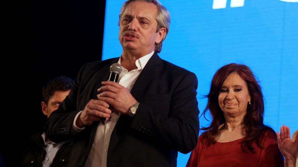 Foto: Alberto Fernández, junto a Cristina Fernandez de Kirchner. (Reuters)