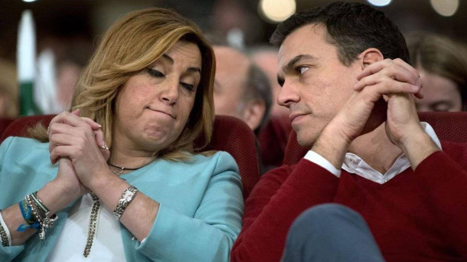 Foto: Susana Díaz y Pedro Sánchez. (EFE)