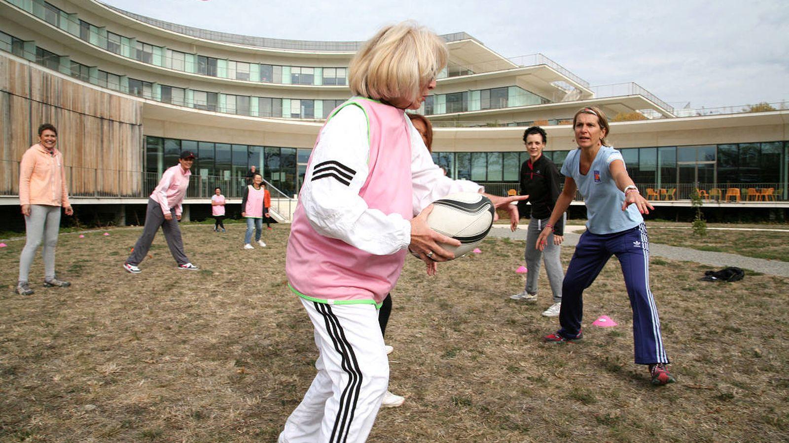 Foto: Pacientes jugando al rugby en Toulouse. (IUCT Oncopole)