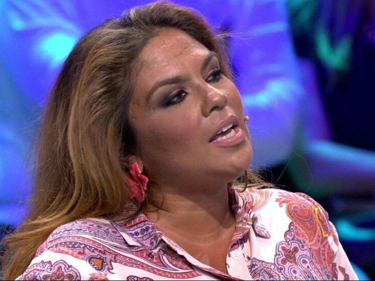 Foto: Saray Montoya, en 'Supervivientes'. (Telecinco).