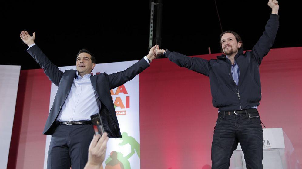 Foto: Iglesias, junto a Tsipras, el pasado mes de enero (AP)