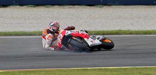 Post de  Las 25 caídas de Marc Márquez que amenazan su título en MotoGP