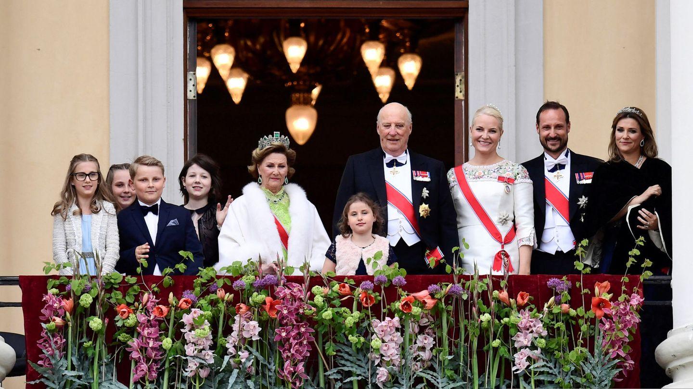 La princesa Marta Luisa, junto a la familia real en una imagen de archivo. (EFE)