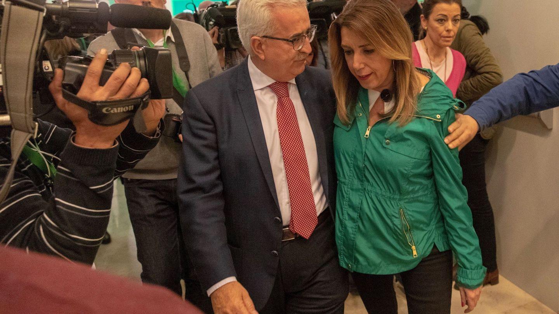 Susana Díaz, en la noche electoral. (EFE)