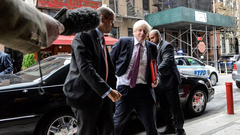 Boris Johnson, ministro de Exteriores británico, a su llegada a la Asamblea General de la ONU, en Nueva York. (Reuters)