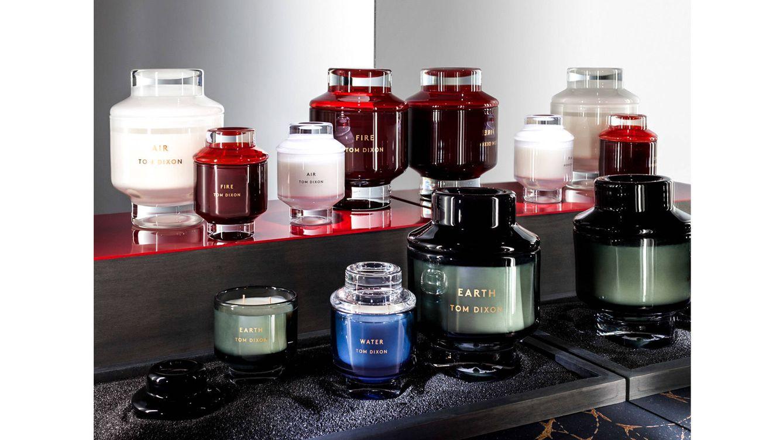 Foto: Las cuatro velas de la colección 'Elements' de Tom Dixon en diferentes tamaños.