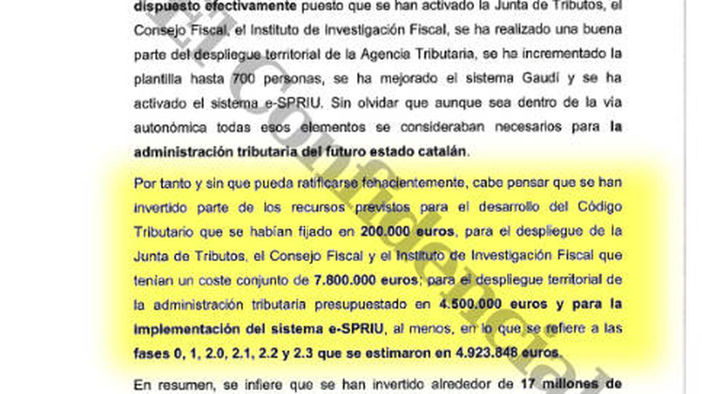 Conclusiones del informe de la Guardia Civil.