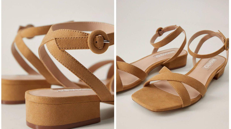 Nuevas sandalias de Mango. (Cortesía)