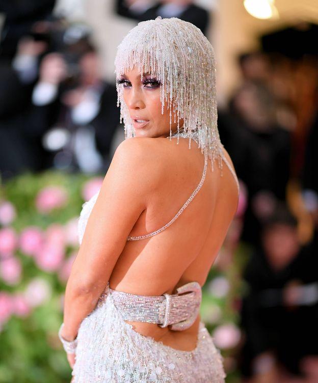 Foto: Jennifer Lopez, en la gala MET, en Nueva York. (Getty)