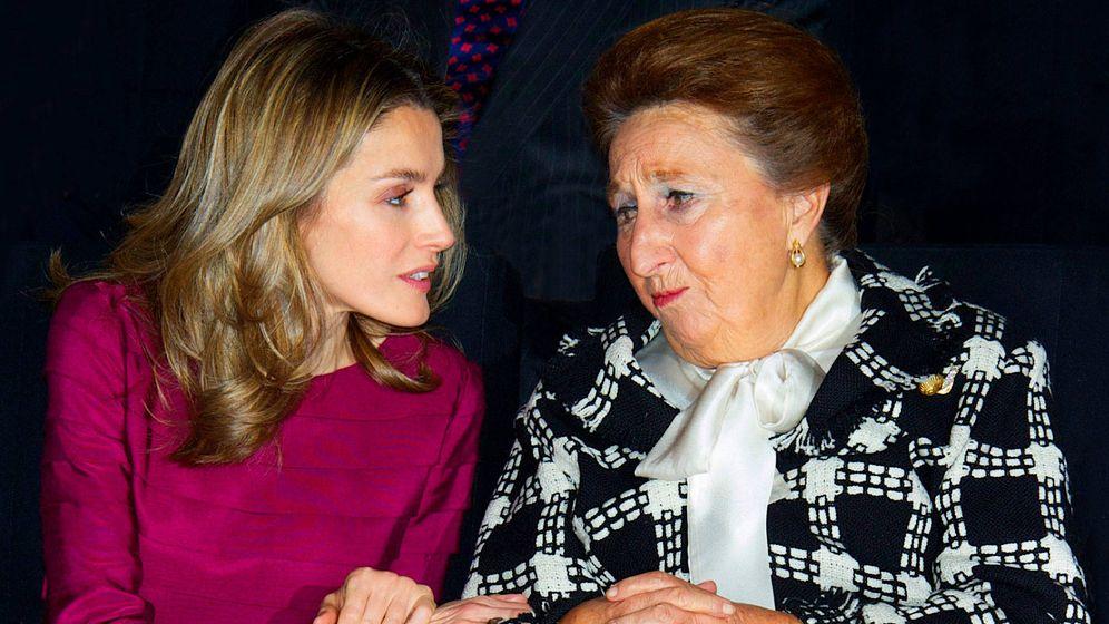 Foto: La infanta Margarita junto a doña Letizia. (Getty)