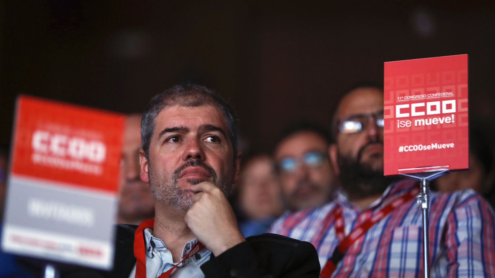Foto: Unai Sordo, nuevo secretario general de CCOO, en el XI Congreso del sindicato (Efe)