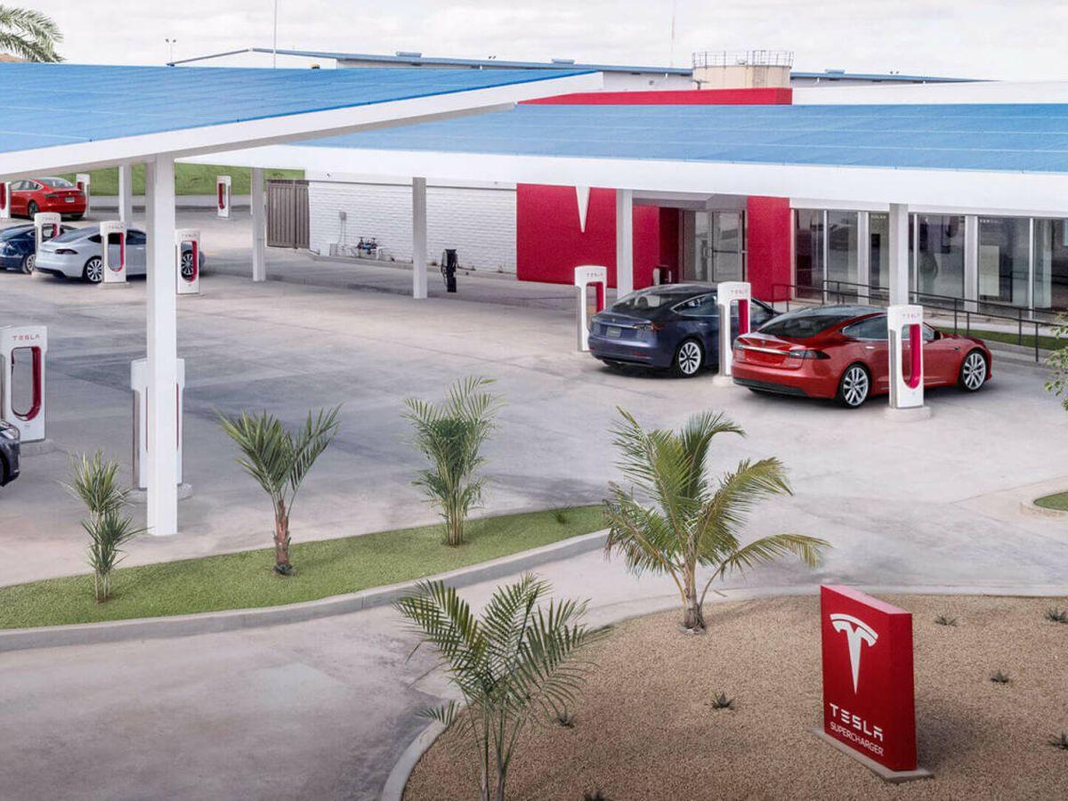 Foto: Estación de carga de Supercharger (Tesla)