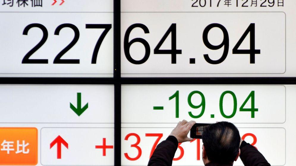 Foto: Panel de cotizaciones en la bolsa de Tokio. (EFE)