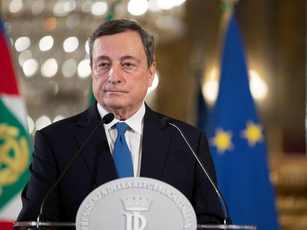 Foto: Mario Draghi, expresidente del BCE, tras su visita al Quirinal. (Reuters)
