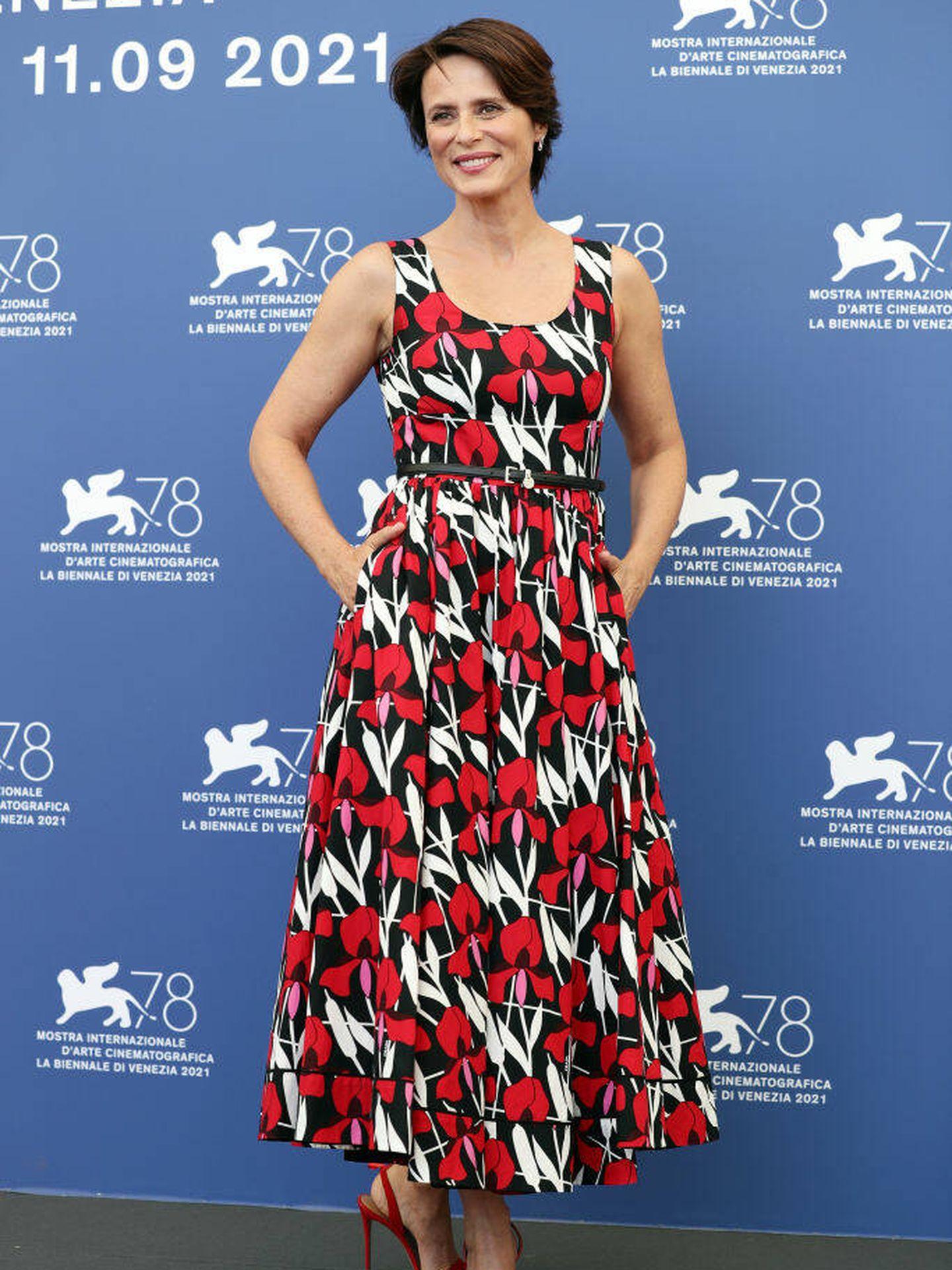 Aitana Sánchez-Gijón, en el Festival de Venecia 2021. (Getty)